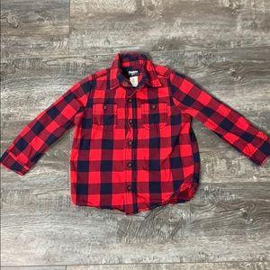 Oshkosh B'gosh red plaid shirt size 4T